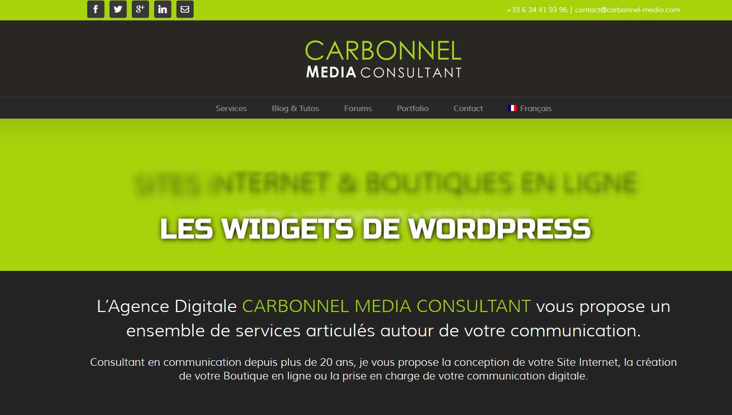 Les Widgets de WORDPRESS